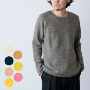 NOR'EASTERLY (ノア イースターリー) L/S WIDE NECK KNIT / ロングスリーブワイドネックセーター