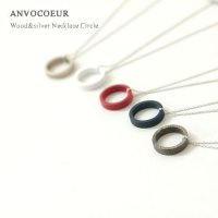 ANVOCOEUR (アンヴォクール) Wood&silver Necklace Circle