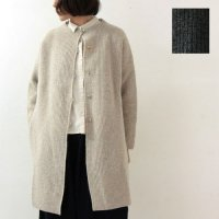 evameva (エヴァムエヴァ) Rib Standcoller Coat