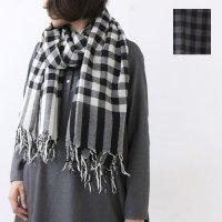 evameva (エヴァムエヴァ) Wool Check Stole