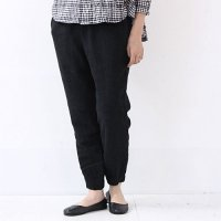 evameva (エヴァムエヴァ) Raising Linen Easy Pants