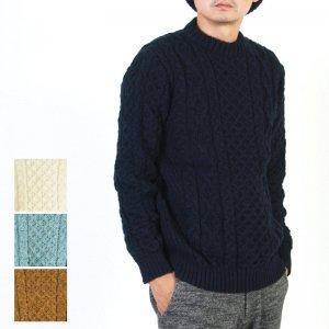 Kerry Woollen Mills (ケリーウーレンミルズ) Aran Cable Crew Neck Sweater LITE #MEN / アランケーブルクルーネックセーター