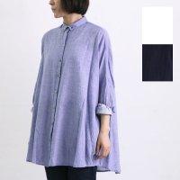 mizuiro ind (ミズイロインド) ボタンダウンワイドシャツ