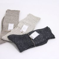 evameva (エヴァムエヴァ) Recycled cotton linen socks