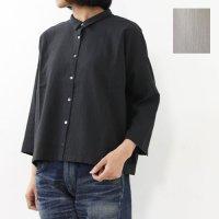 evameva (エヴァムエヴァ) Crepe cotton shirt