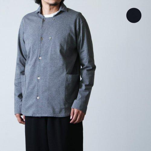 nisica (ニシカ) ウールメルトンダブルボタンシャツ