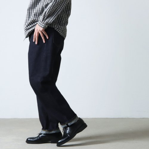 YAECA (ヤエカ) 10-14W WIDE TAPERED DENIM PANTS / ワイドテーパードデニムパンツ