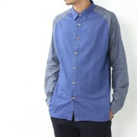 KESTIN HARE (ケスティンエア) LS RAGLAN CHAMBRAY SHIRT 『BLUETIT』