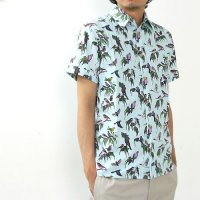 KESTIN HARE (ケスティンエア) SS UK MAKE BIRD PRINT SHIRT 『DOVE』