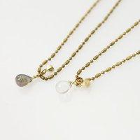 CERASUS (ケラスス) Ball Chain Drop Stone ネックレス
