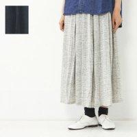 style + confort (スティールエコンフォール) リネン天竺タックギャザースカート
