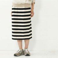 mizuiro ind (ミズイロインド) ボーダータイトスカート