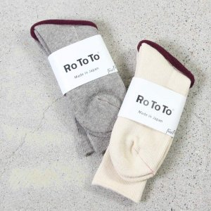 RoToTo (ロトト) EARTH SOCKS RIB PILE