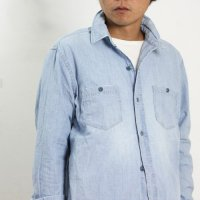 【50% OFF】 Ordinary Fits (オーディナリーフィッツ) WORK SHIRT chambray used