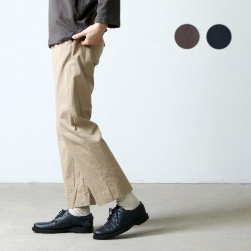 YAECA (ヤエカ) CHINO CLOTH PANTS PIPED / チノクロスパンツパイプド