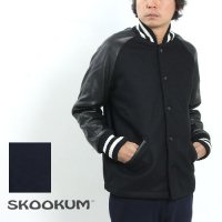 SKOOKUM (スクーカム) SUR COAT (MELTON×LEATHER)