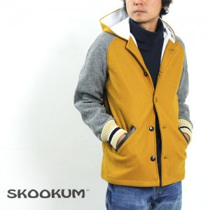 【50% OFF】 SKOOKUM (スクーカム) HOODED SUR COAT (ALL MELTON)
