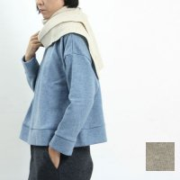 evameva (エヴァムエヴァ) Wool cashmere rib stole