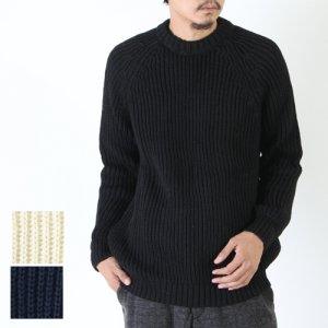 【30% OFF】 Kerry Woollen Mills (ケリーウーレンミルズ) Fisherman Rib Crew Neck Sweater / フィッシャーマンリブクルーネックセーター