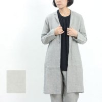 evameva (エヴァムエヴァ) Cotton linen long jacket