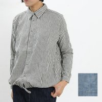 ICHI Antiquites (イチアンティークス) リネンコットン裾しぼりシャツ