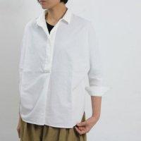 evameva (エヴァムエヴァ) Cotton twill dolman shirt
