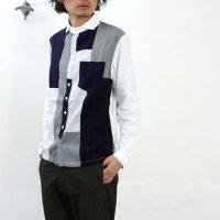 NATIC (ナティック) オックス×サマーウールパッチワークシャツ