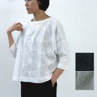 kelen (ケレン) Flower Lace Fulid Line pullover Lou Embroidery