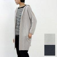 evameva (エヴァムエヴァ) Soft cotton seamless hooded robe