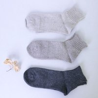 evameva (エヴァムエヴァ) Recycled cotton short socks