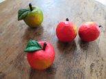 北海道・工房るかの木彫りりんごのオブジェ*期間限定販売