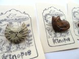 動物木彫りブローチ*期間限定販売*京都・kinopoe