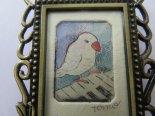 ピアニスト4*銅版画のミニミニフレーム*キムラトモミ