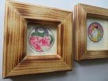 バラ色の恋 9*銅版画のミニフレーム*キムラトモミ