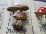 「きのこ」木彫りブローチ*10月31日までの期間限定販売*京都・kinopoe