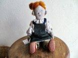 2021さすらいワークスのお人形*珈琲とパン*パン屋スタッフ「明るい髪色おだんごヘア」さん