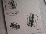 活版印刷のポストカード*B