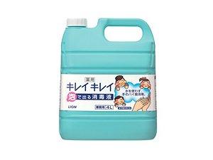 キレイキレイ薬用泡で出る消毒液4L 1ケース[3本入]