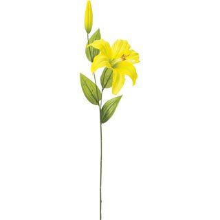 仏花造花 シングルカサブランカ イエロー 1箱[24本入]