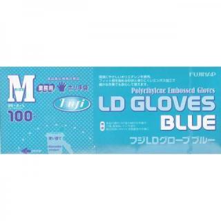 業務用ポリ手袋 ブルーグローブ M 100枚入 1ケース[40箱入]