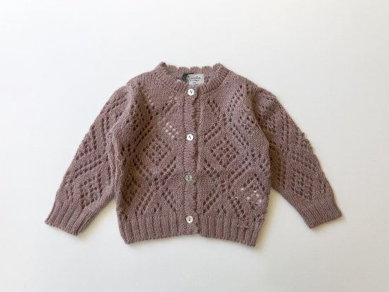 4b240d604282 tocoto vintage GIRL KNITTED JACKET   PINK - pippi baby kids clothing