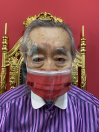 目も守れる革命的マスク「目スク」(赤)