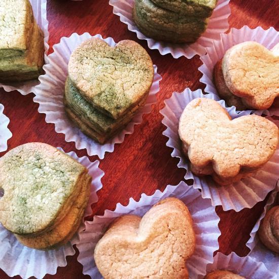 ハートの抹茶クッキー(4枚入り)
