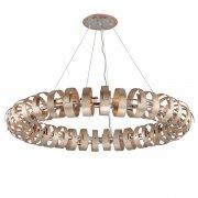 <B>【CORBETT】</B>アメリカ製・デザインシャンデリア「Recoil」18灯(W1524×H203mm)