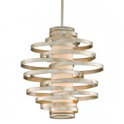 <B>【CORBETT】</B>アメリカ製・デザインシャンデリア「Vertigo」2灯(W420×H470mm)