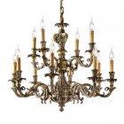 <b>【POSSONI】</B>イタリア製最上級ブランド・真鍮製シャンデリア12灯(W840×H750mm)※要お見積もり