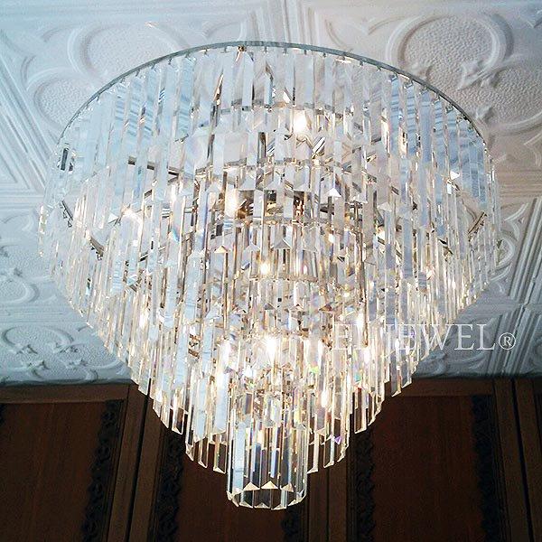 【クロームのみ在庫有!】【LA LUCE】 デザインシャンデリア17灯(W800×H600mm)