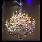 【在庫有!】 【LA LUCE】クリスタルシャンデリア 48灯 ゴールドorクローム(W1750×H2250mm)
