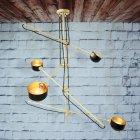 <b>【Mullan】</b>インダストリアル・スタイル ペンダントライト4灯(W1000-1900×H1060-1950mm)