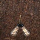 <b>【Mullan】</b>インダストリアル・スタイル ペンダントライト2灯「ARRIS」(W70×H125mm)